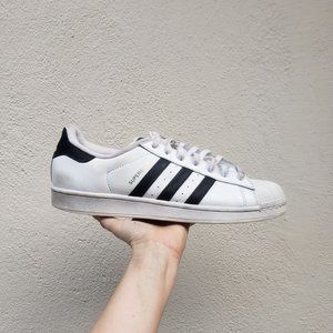 Adidas Superstar Black White Shell Toe Sneakers